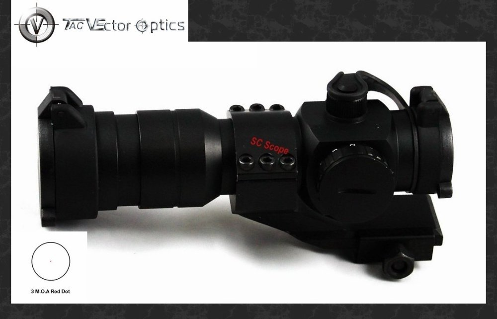Vector Optics Squire 1.5x30 Red Dot Scope 3 MOA Sight with Cantilever Weaver Mount Ring Fit for Night Vision(China (Mainland))