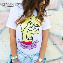 Summer Casual Short Sleeve T-shirt 2016 Cartoon Lisa Printed T shirt Women Harajuku Unisex Lovers Student Tops(China (Mainland))