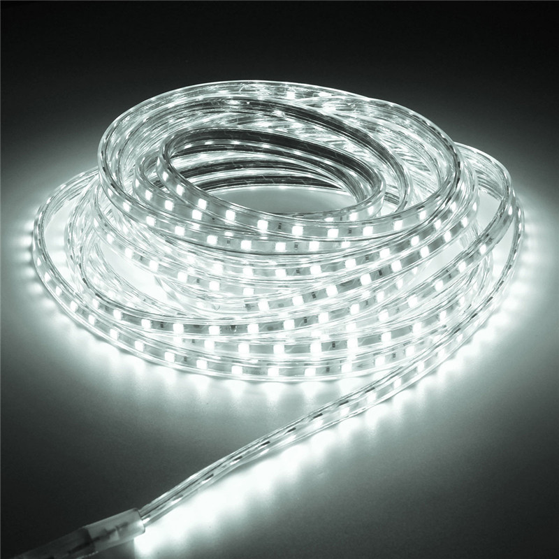 8M Waterproof IP67 RGB 5050 SMD 60 LEDs/M Flexible Tape Rope LED Strip Light Xmas Party Holiday Home Outdoor Garden Decor 220V(China (Mainland))