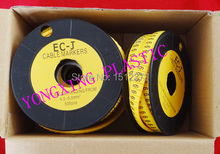 16roll/lot cirlce Cable marker EC-3 6 square meter yellow color X Y Z S each 4 roll(China (Mainland))