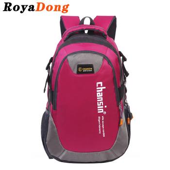 RoyaDong Big Size Backpack Nylon Letters Printing School Bag For Teenage Girls Boys Kids Schoolbags 2017 Hot