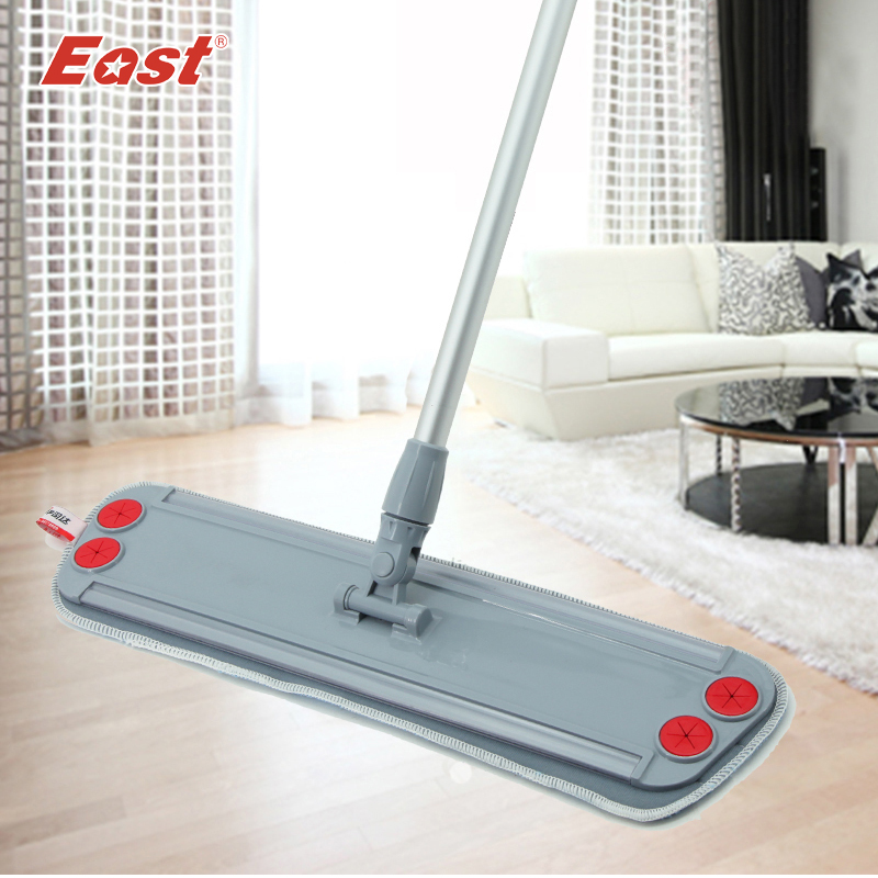 East Trapezoid Flat Mop Telescopic with microfiber cloth can clip towel for home floor kitchen living room cleaning tools(China (Mainland))