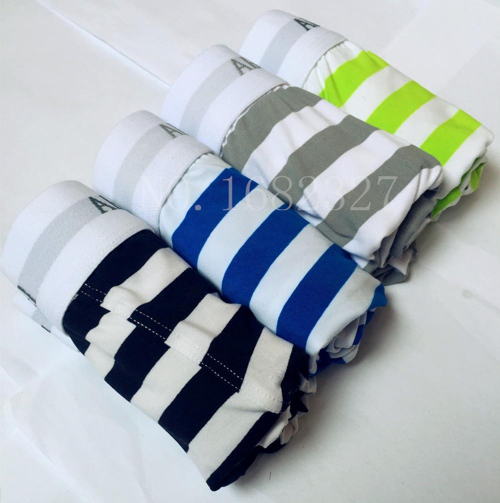 T.O.B!- Free shipping 1PC. 2015 Sexy Brand Men Boxer Shorts Men's Underwear striped Boxers Modal Milk silk Men Boxer Shorts(China (Mainland))