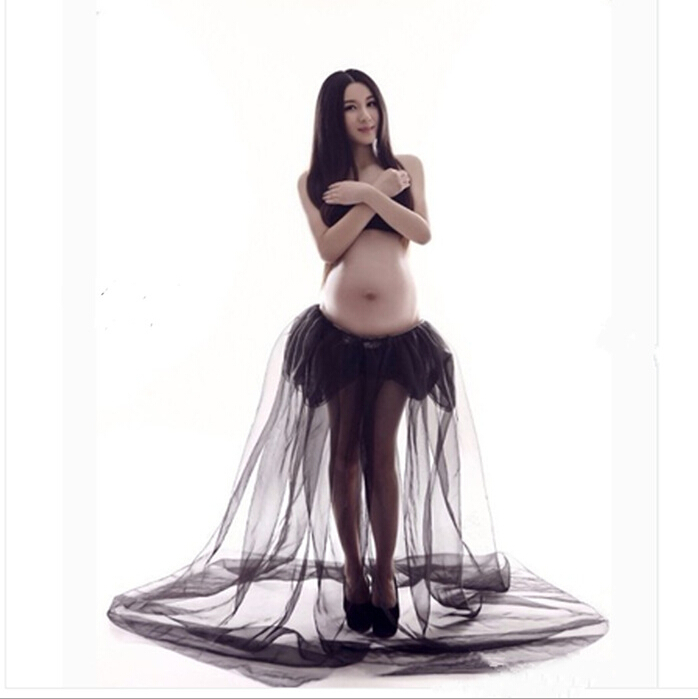 Elegant Pregnant Floor Length dress font b Maternity b font Dress Pregnant Photography Props Fancy Pregnancy
