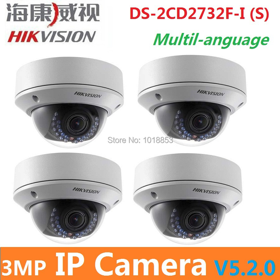 HIKVISION DS-2CD2732F-I (S) New High Quality varifocal lense 3MP IR dome security network ip cameras w/audio alarm support POE(China (Mainland))