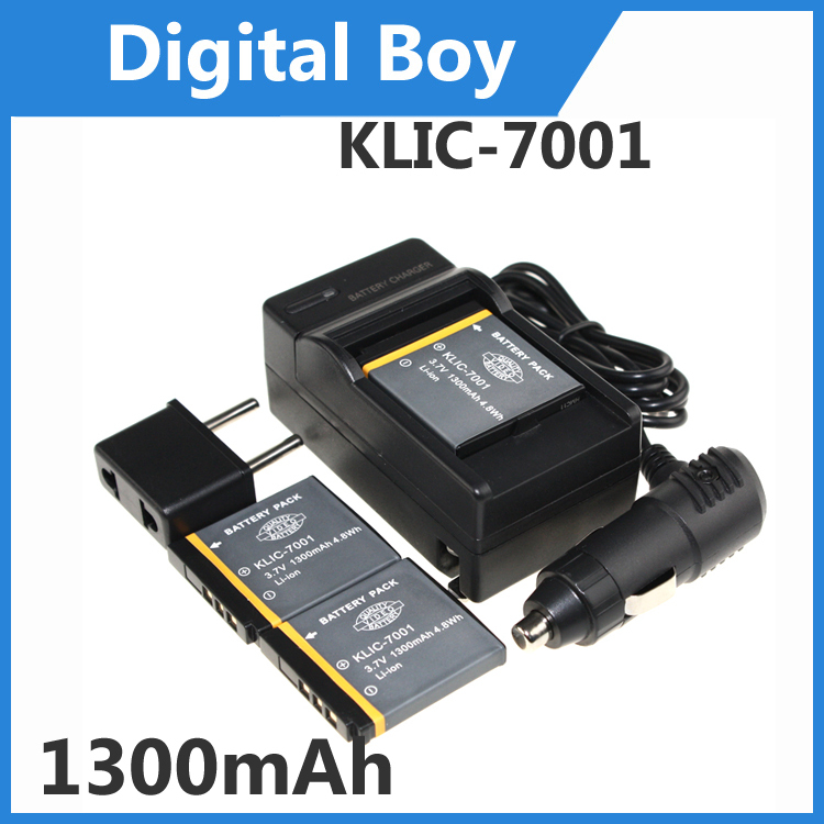 Top Selling 3 x KLIC-7001 KLIC7001 KLIC 7001 Rechargable Battery+1 Charger+1 Car charger+1 Plug adapter for KODAK Digital Camera(China (Mainland))