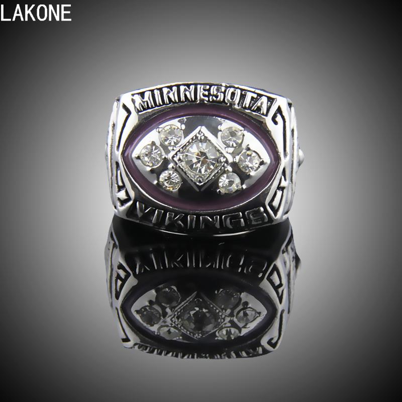LAKONE Champions ring,1976 Minnesota Vikings Super Bowl Championship Ring, sports fans ring, men gift ring(China (Mainland))
