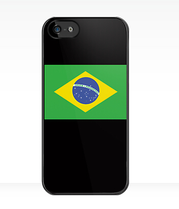Free shipping custom design BRAZILIAN FLAG PURE SIMPLE Brazil Football Olympics TPU case cover for Samsung Galaxy S4 i9500(China (Mainland))