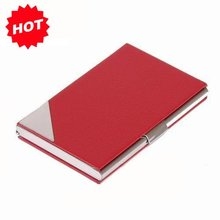 2016 High Quality Print logo metal&leather credit ID business name card holder case,promotion gifts,TNCH007