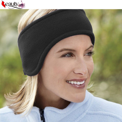 1 PCS Unisex Women Men Ear Warmer Winter Head Band Polar Fleece Ski Black Ear Muff Stretch Spandex Hair Band Accessories(China (Mainland))