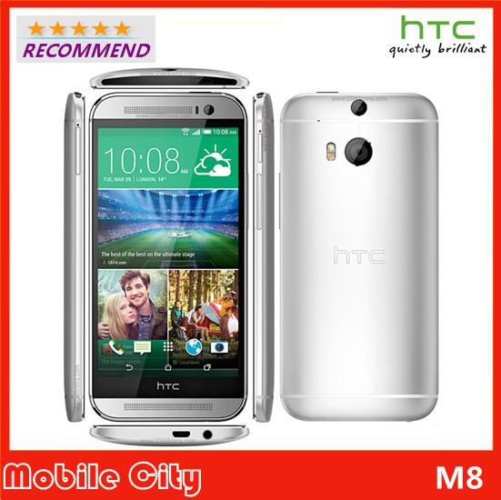"Original HTC One M8 GSM/WCDMA/LTE 4G 3 Cameras WIFI Quad Core 16&32GB ROM 5.0"" Refurbished Unlocked Cell Phones Free Shipping(China (Mainland))"