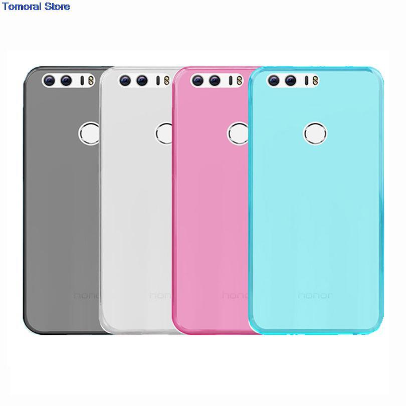 For Huawei Honor8 Eight Hua Wei Honor 8 Huawei8 Soft Fit Flexible TPU Rubber Gel Skin Silicone Case Matte Back Shell(China (Mainland))