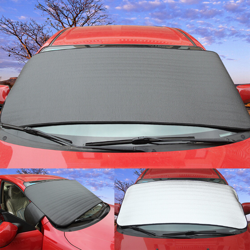 2016 new design Dual-use Car Sun Shade Window Foils Windshield auto Windshield Visor Cover Block Front Window Sunshade Thicken(China (Mainland))