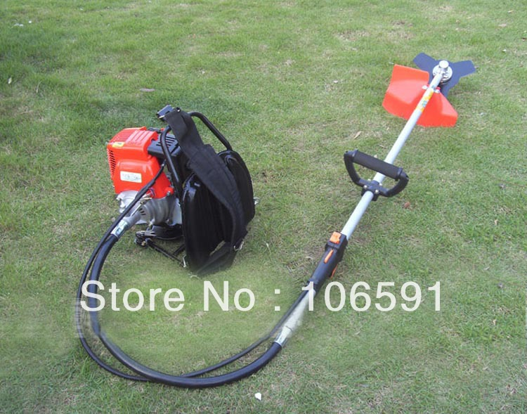 backpack knapsack gasoline petrol 4 stroke brush grass cutter trimmer handle mower cleaner(China (Mainland))