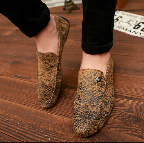 Здесь можно купить  men shoes driving peas casual good quality flat Moccasins spring autumn nubuck leather lazy male thermal cotton-padded shoes  Обувь