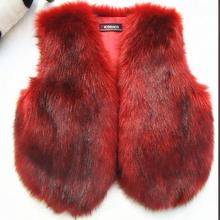 Faux Fox Fur Vest 2015  Fashion Furry Waistcoat Pink White 9 Color Gilet Fourrure Femme Winter Autumn Faux Fox Fur Women Vest(China (Mainland))