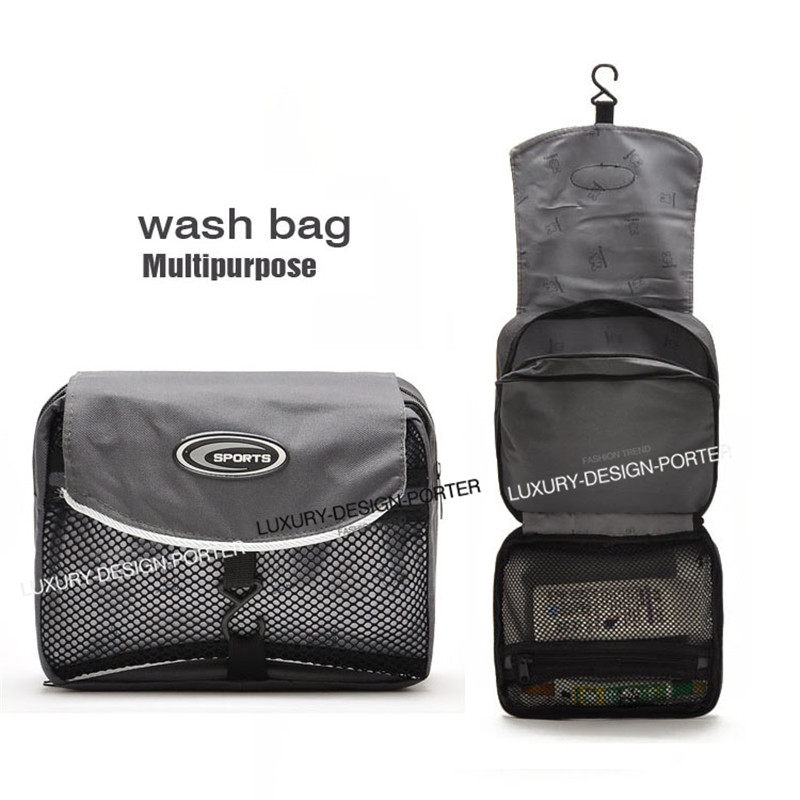 Designer Men multi purpose Fold out Cosmetic Toiletry bag Travel Organizer With Hook<br><br>Aliexpress