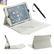 For Apple iPad Air 2 /for iPad 6 9.7 inch 3-In-1 Slim Silicone Wireless Bluetooth Keyboard Portfolio PU Leather Folio Case Cover(China (Mainland))