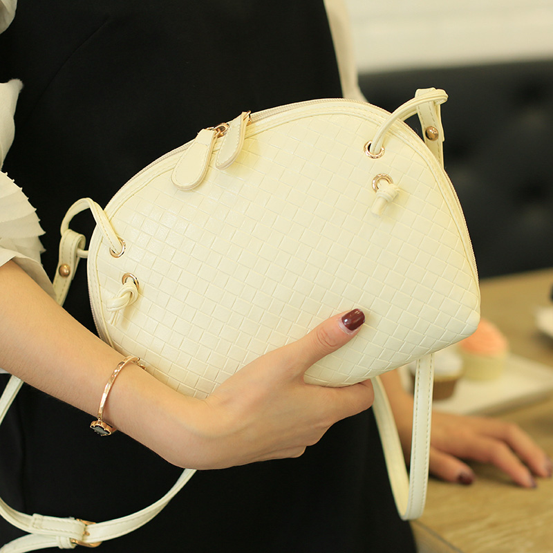 2015 women's knitted shell messenger zip polyester bag mini bags female shoulder ladies - fashional accessories store