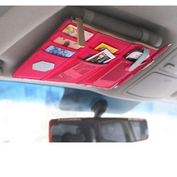 Multifunction Sun Visor Storage Bag Car CD Card Storage Organizer Arrangement Bag Vehicles Sun Visor Hanger Holder(China (Mainland))