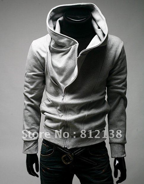 Promotion product HOT wholesale price top quality Koreal style classic oblique zip slim designed men hoodie jacket