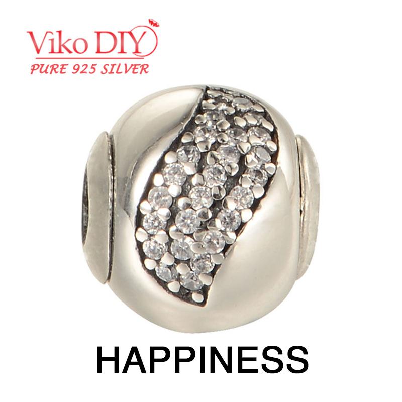 Cubic-Zirconia-Stone Jewelry Punk Prata Bead Spacer Sterling 925 Silver Essence Beads Wholesale Diy Viko Jewelry ST107