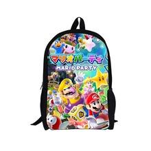 2015 Hot Sale Children s 3D Cartoon Backpack Cool Outdoor Super Mario School Backpack for Kids