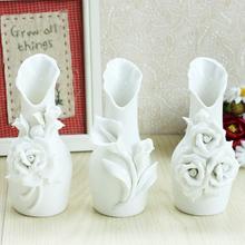 White porcelain vase ceramic mini flower holder marriage decoration flower handmade flower(China (Mainland))