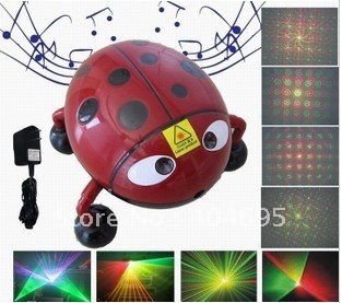 Red and green mini laser stage lights,  Beatles MP3 stage lights