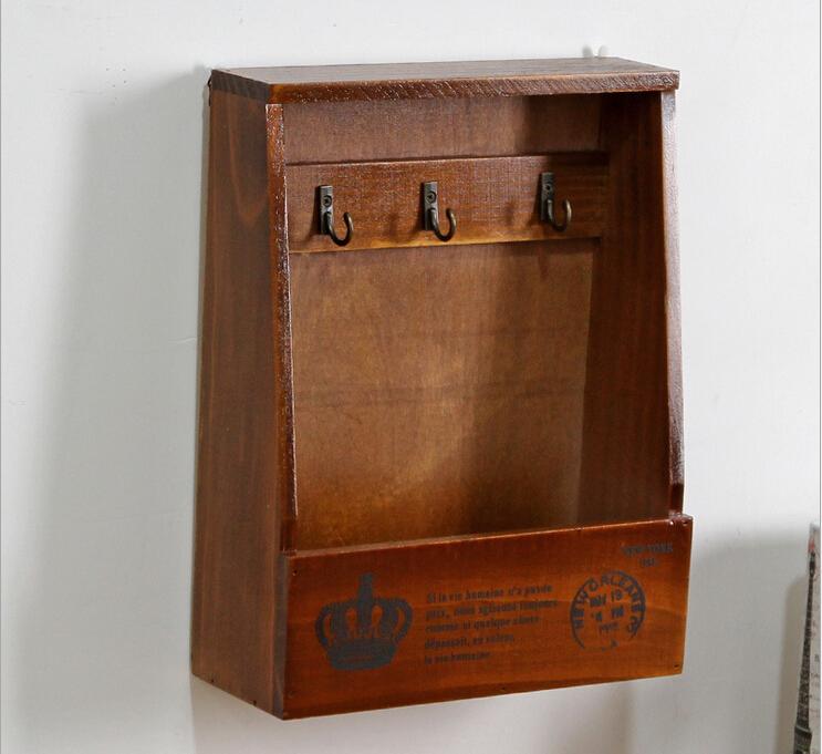Free Shipping Wooden Key Box Garden Key Hanger Case Wooden