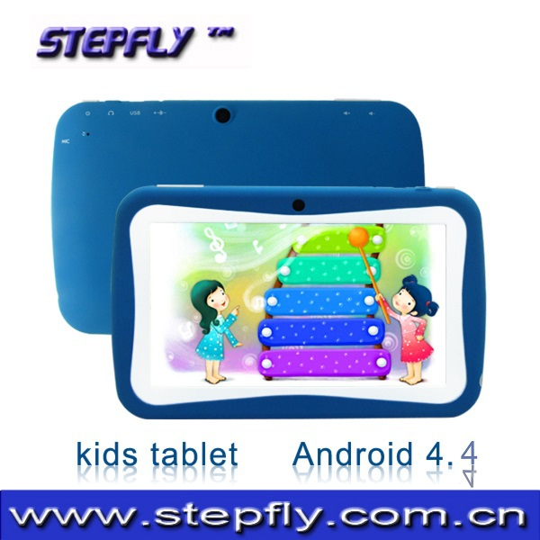 Stepfly free shipping high quality 7 inch HD touch screen quad core RK3126 8G camera 2mp wifi kids tablet pc ( M725C)(China (Mainland))