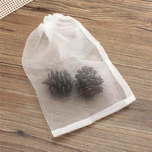 Nylon Mesh Drawstring Net Bag for Aquarium Filter Media Bio Ring Bio-Ball Carbon 20x30cm(China (Mainland))