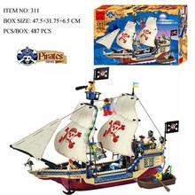 Pirate Warship Toys Gun Original Sluban Building Block Set Construction Brick Toys Educational Compatible With Legoed Lbk_qm_028