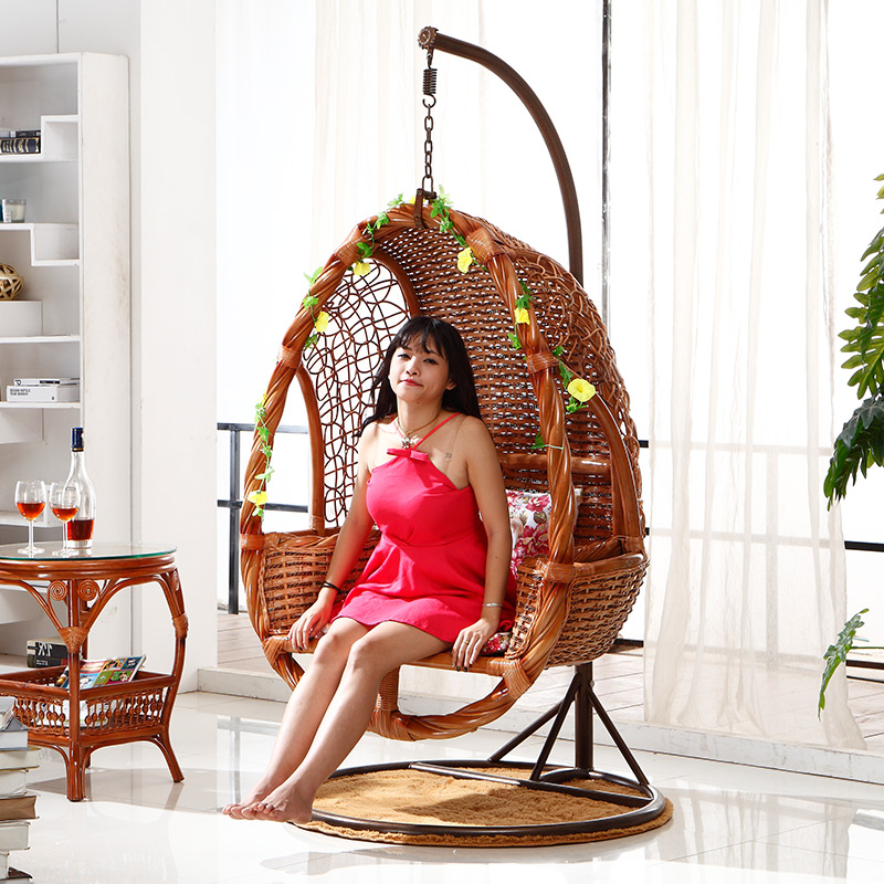 Outdoor rattan basket swing hanging chair indoor Indonesian imports gardens(China (Mainland))