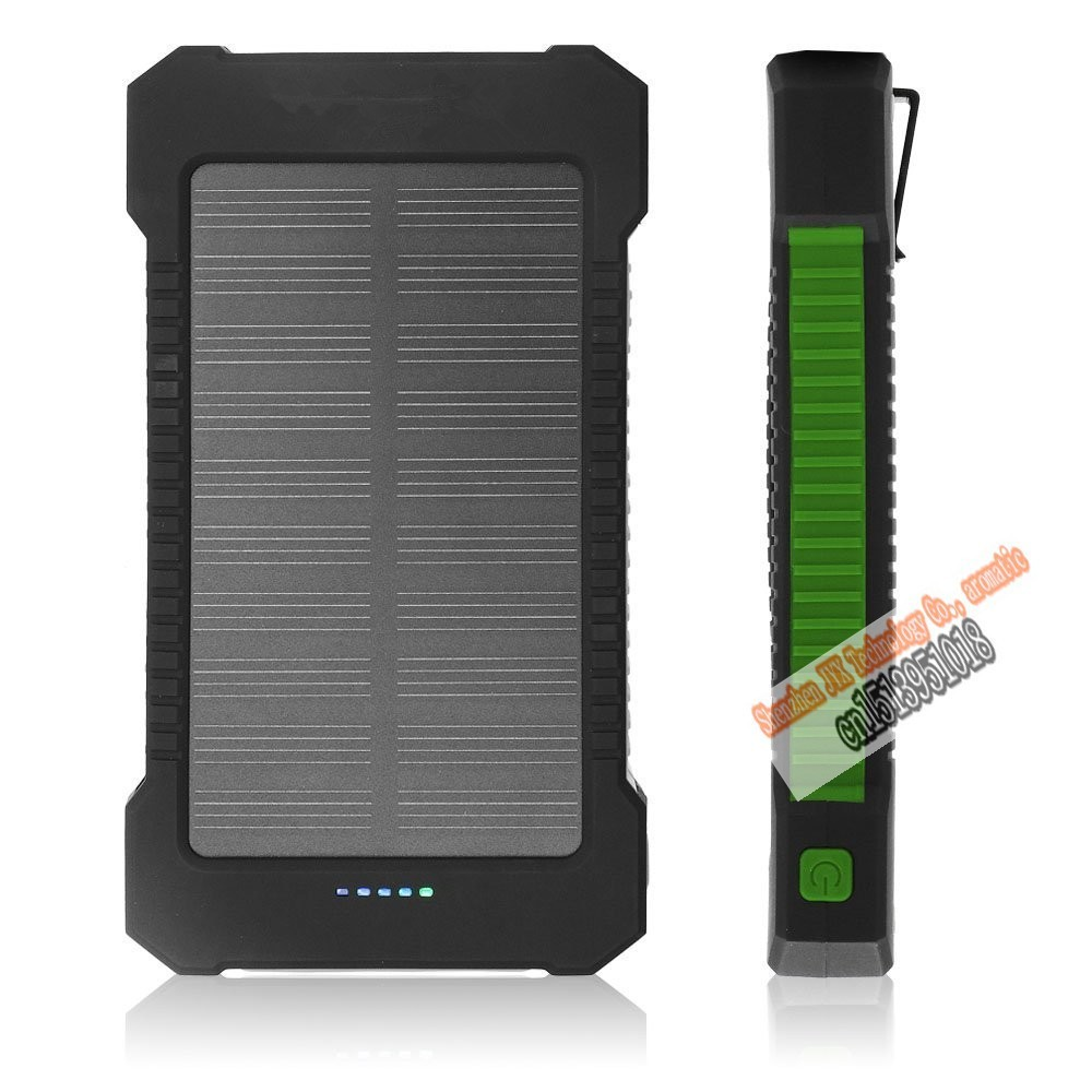 bluruki Solar Power Bank Dual USB Power Bank 20000mAh External Battery Portable Charger Bateria Externa Pack for Mobile phone