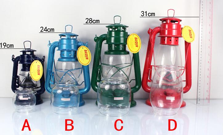 2016 High Quality Iron Vintage Kerosene Lamp Lantern Camping Portable Lamp Masthead Light Well-Known Brand Retro Oil Lamp(China (Mainland))