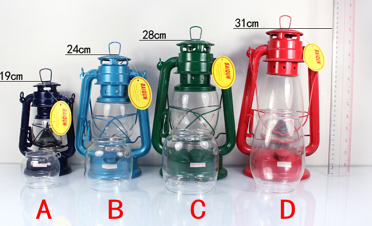2016 High Quality Iron Vintage Kerosene Lamp Lantern Camping Portable Lamp Masthead Light Well-Known Brand Retro Oil Lamp(China (Mainland))