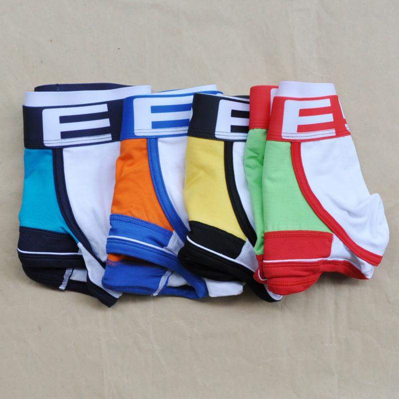 Hot Sale High Quality Men Boxer Shorts ES brand Men's Sexy low waist Underwear Boxers Cotton Shorts panties trunks(China (Mainland))