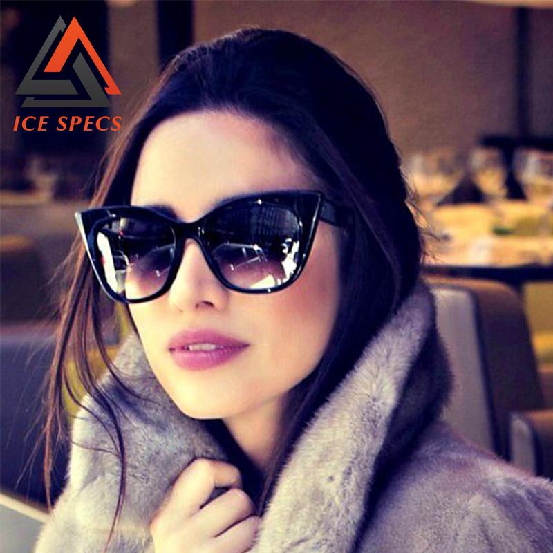 2016 Fashion Cat Eye Sun Glasses for Women Acetate Points Sun Mirror Sunglasses Female UV400 shades New Eyewear vintage Oculos(China (Mainland))