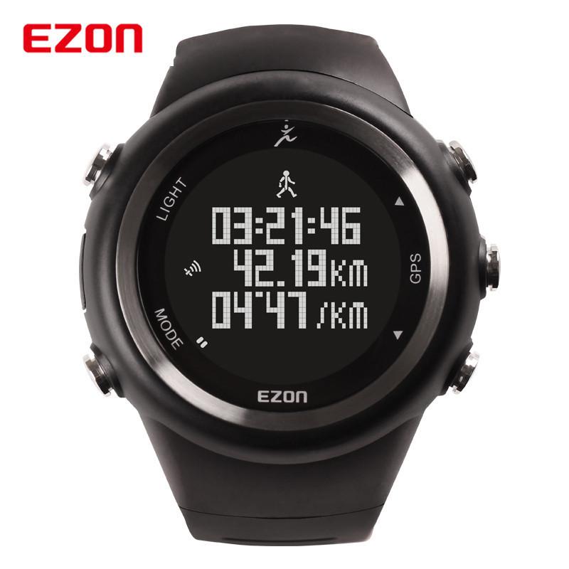 Contador de Calorias Relógio de Pulso Ezon Gps ao ar Livre Correndo Sports 5atm Waterproof Pedômetro Digital Homens Mulheres Militar 2016 Nova