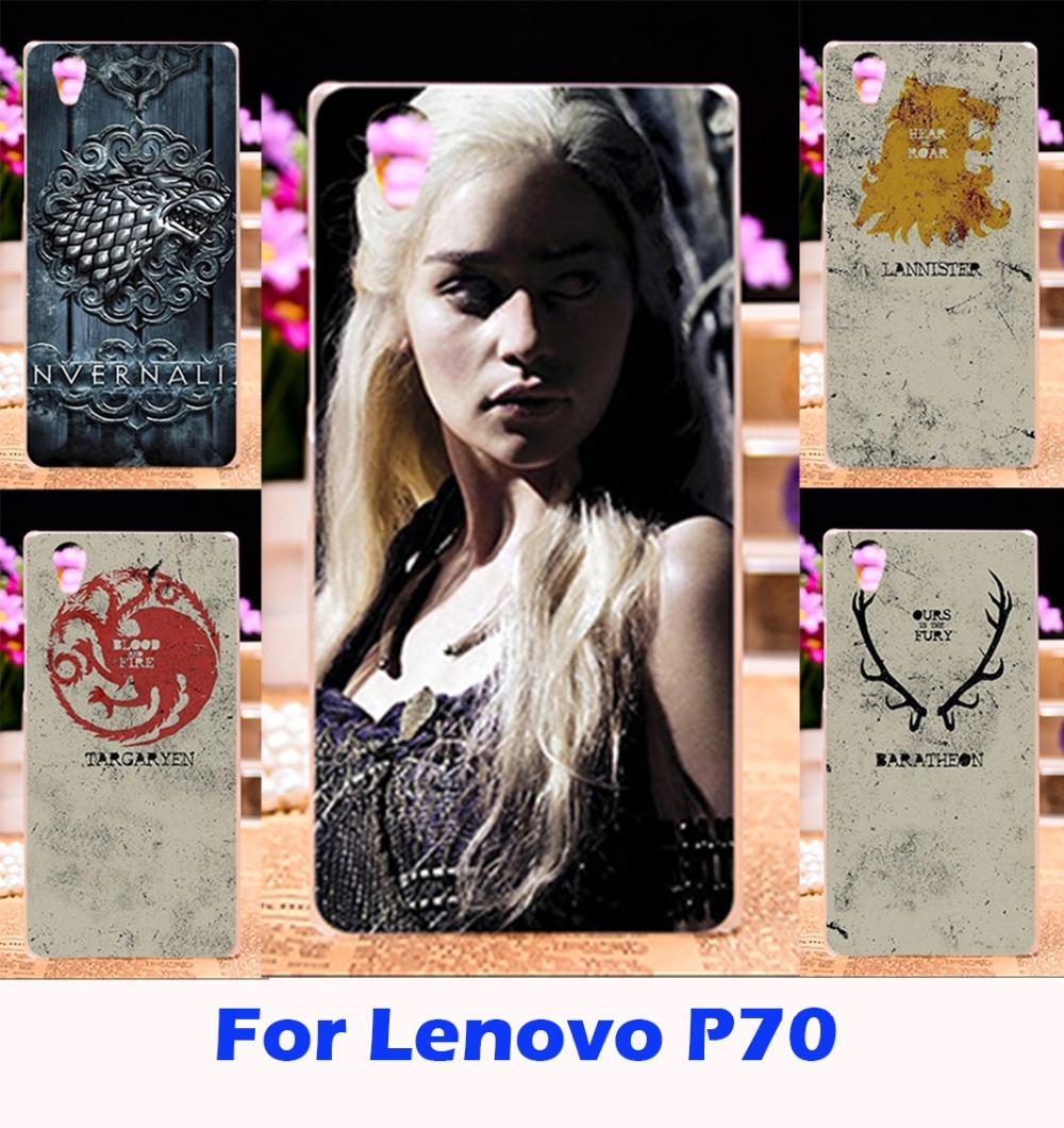 Hard Plastic Phone Prined Cases For Lenovo P70 P70T P 70 Game Thrones Emilia Clarke Shell Cover For Lenovo P70 P 70 Fundas Coque(China (Mainland))