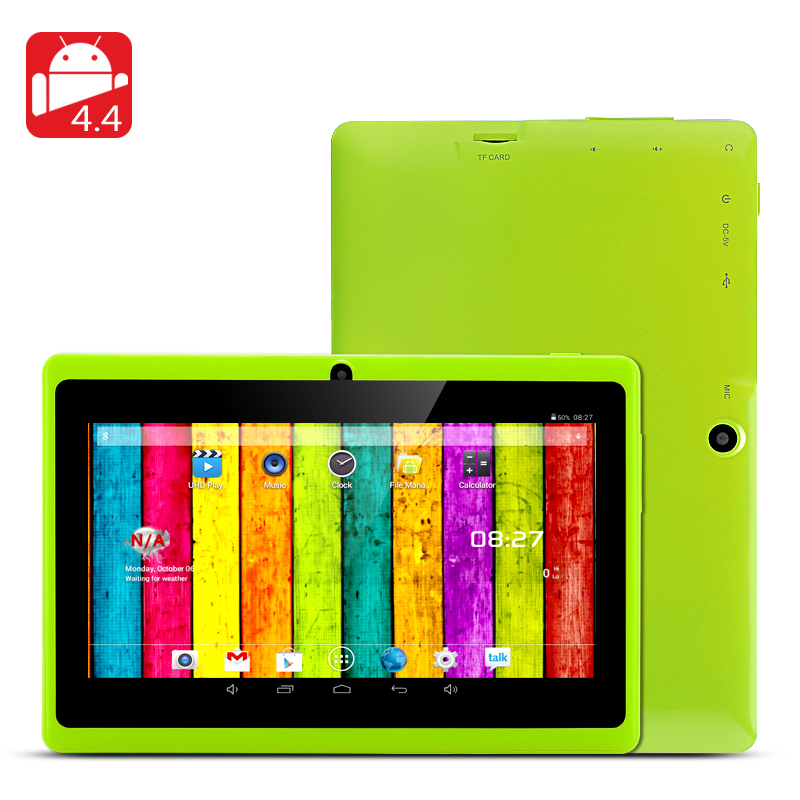 7 inch Q88 Allwinner A23 Dual Core 512MB/4GB (or A33 Quad Core 512MB/4GB) Tablet Android 4.4.2 Kids Tablet PC Dual camera WIFI(China (Mainland))