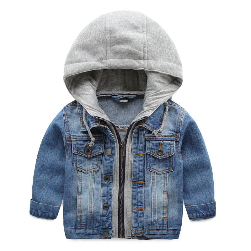 Childrens denim jacket,boys long sleeve hooded jean coat,2-7 yrs kids clothing tops,new autumn casual outerwear<br><br>Aliexpress