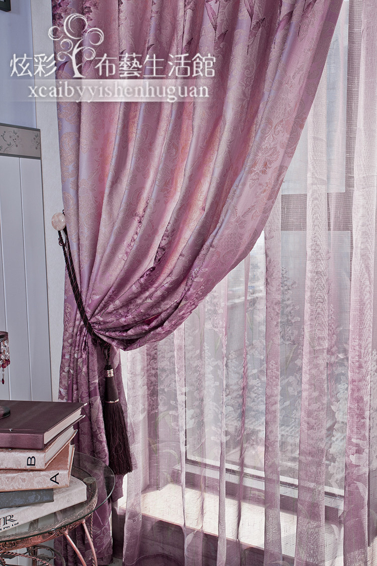 Purple Living Room Curtains Fabric Orchid Flowers Picture More Detailed Picture About