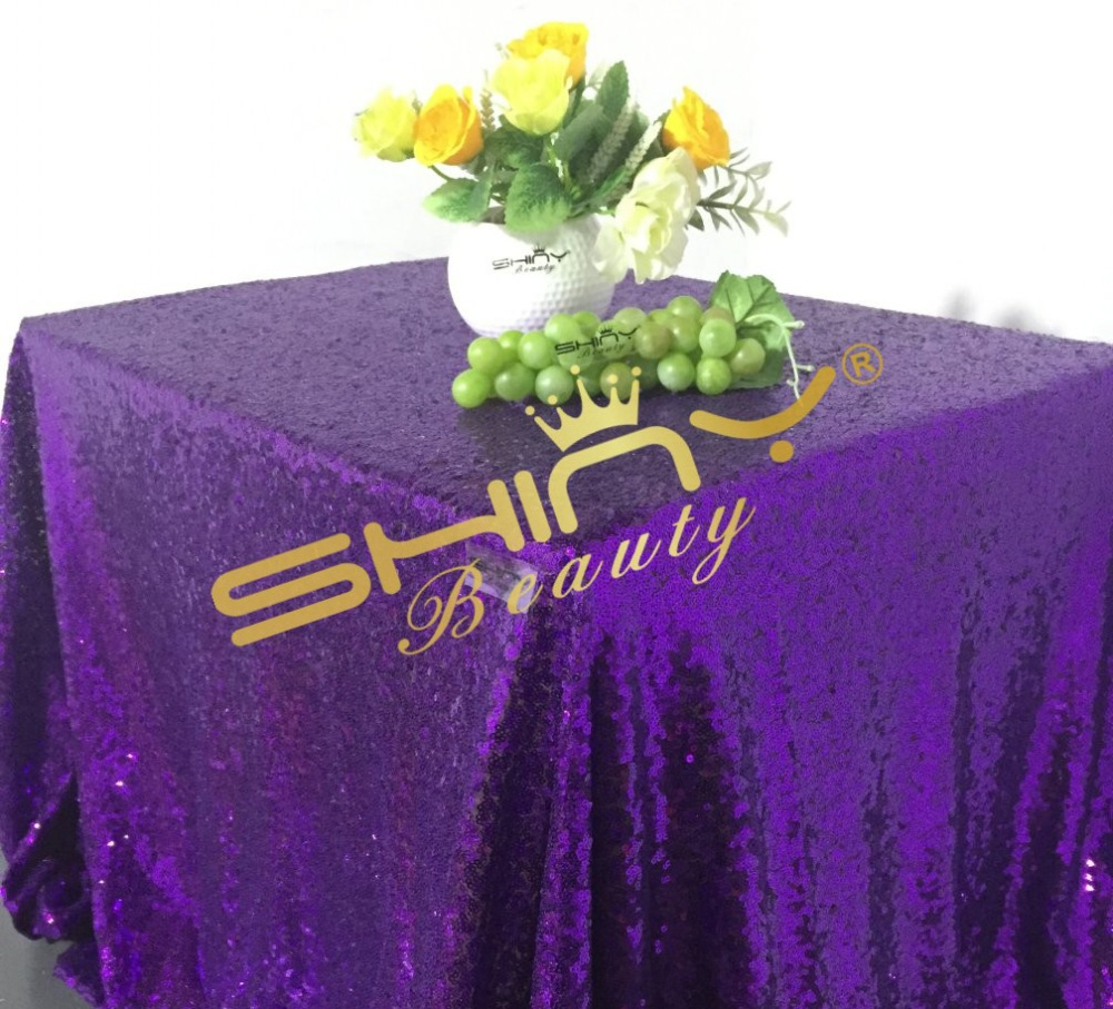 Shiny 50''*72'' Purple Sequin Table cloth, Wholesale Sequin Table Linens, Sequin Cloths For Events Decor(China (Mainland))