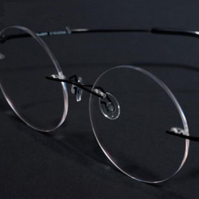 Frameless Circle Glasses : Round Glasses Frame memorial jobs radiation resistant ...