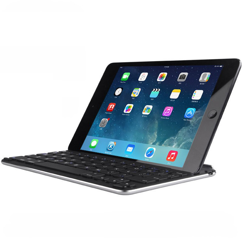 For Ipad Air 2 Wireless Bluetooth Keyboard with Slot Stand Magnetic Attraction Wireless Keyboard with Background Light(China (Mainland))