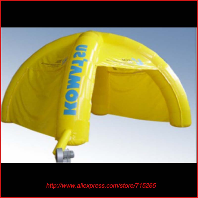 2016 Fashion Design Advertising Practical Yellow Inflatable Spider Tent 6m*6m PVC Net Cloth Events Outdoor Commercial Display(China (Mainland))