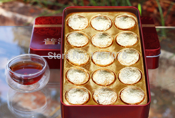 Hot Sale Black Tea Flavor Pu er Puerh Tea Chinese Yunnan Puer Tea Gift Tin box