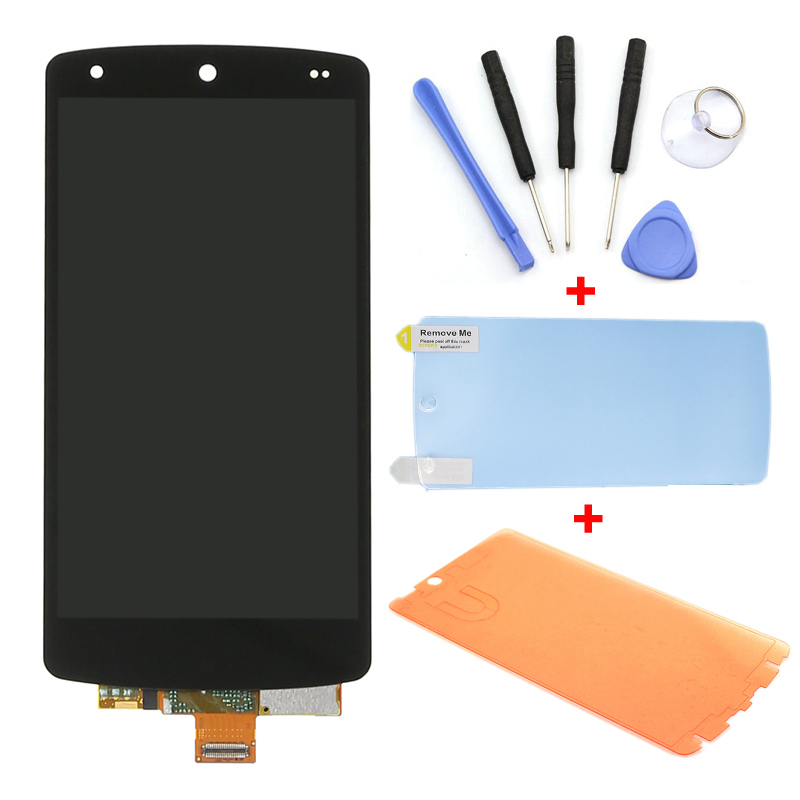 For LG Google Nexus 5 D820 D821 Black LCD Display Touch Screen Digitizer Assembly+Tools+Adhesive+Phone Film Free Shipping(China (Mainland))